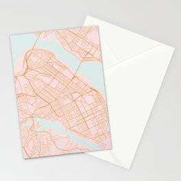 Halifax map, Canada Stationery Cards