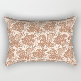 Pegasus Pattern Beige Brown Rectangular Pillow