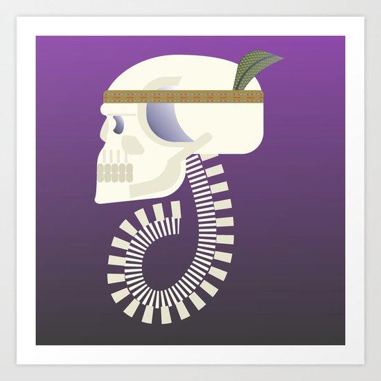 Indie G skull Art Print