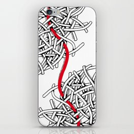 Fil rouge iPhone Skin