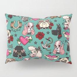 Tattoo Dogs Pillow Sham