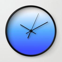 Aqua Ombre Wall Clock