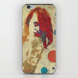 Drawn Beauty iPhone Skin