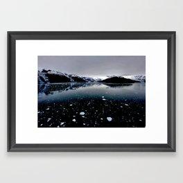 Glacier Dusk Framed Art Print
