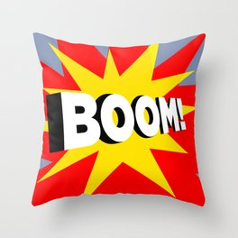boom Throw Pillow