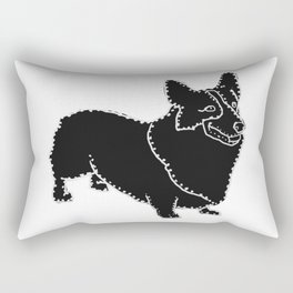 I have Connected the Pembroke Welsh Corgi Doggy Dots! Rectangular Pillow