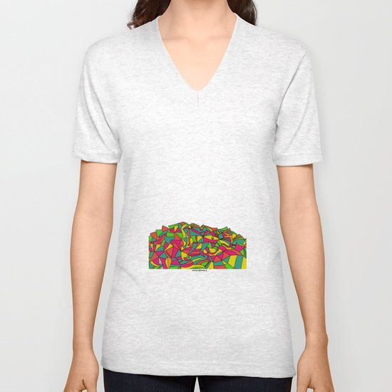 - don't let ghosts play with colors - Unisex V-Neck