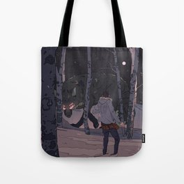 Kitsune at Night Tote Bag