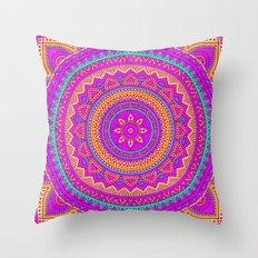 Hippie mandala 61 Throw Pillow
