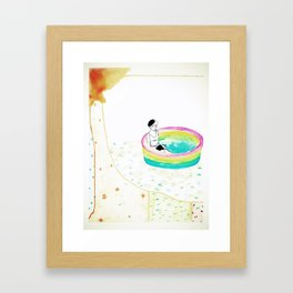 float. Framed Art Print