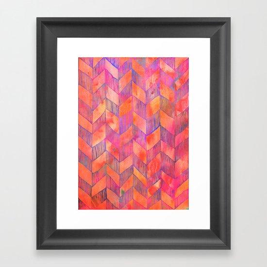 PATTERN {Chevron 012} Framed Art Print