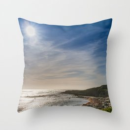 Sunstar at Ano Nuevo State Reserve California Throw Pillow