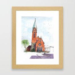 Church of the Intercession of the Holy Virgin, Kaliningrad, Russia Framed Art Print