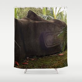 Easter Island Tiki Shower Curtain