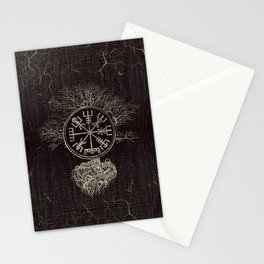 Vegvisir  and Tree of life  -Yggdrasil Stationery Cards
