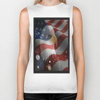 patriotic Biker Tanks featuring Patriotic America by D.A.S.E. 3
