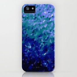 Deep Blue Ocean Mosaic Tile iPhone Case