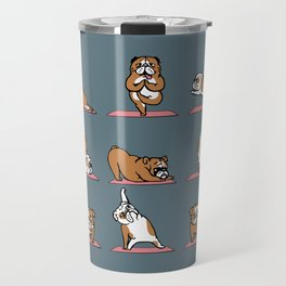English Bulldog Yoga Travel Mug