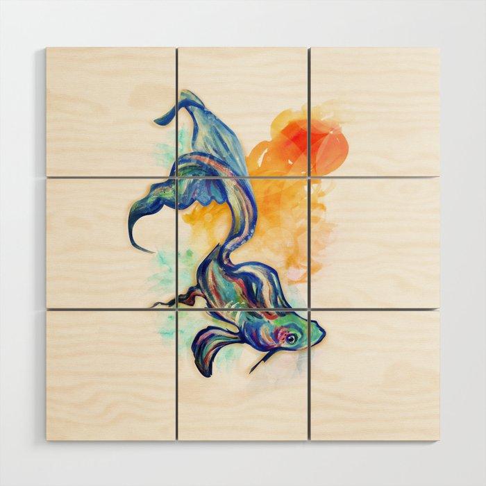 In Streams Wood Wall Art