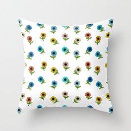 Ahh Sweet Flowers Throw Pillow