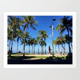 Tourist Palms Art Print