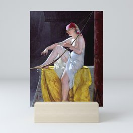 """Luis Ricardo Falero """"Egyptian Woman With Harp"""" Mini Art Print"""