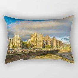 Coastal Urban Scene, Montevideo, Uruguay Rectangular Pillow
