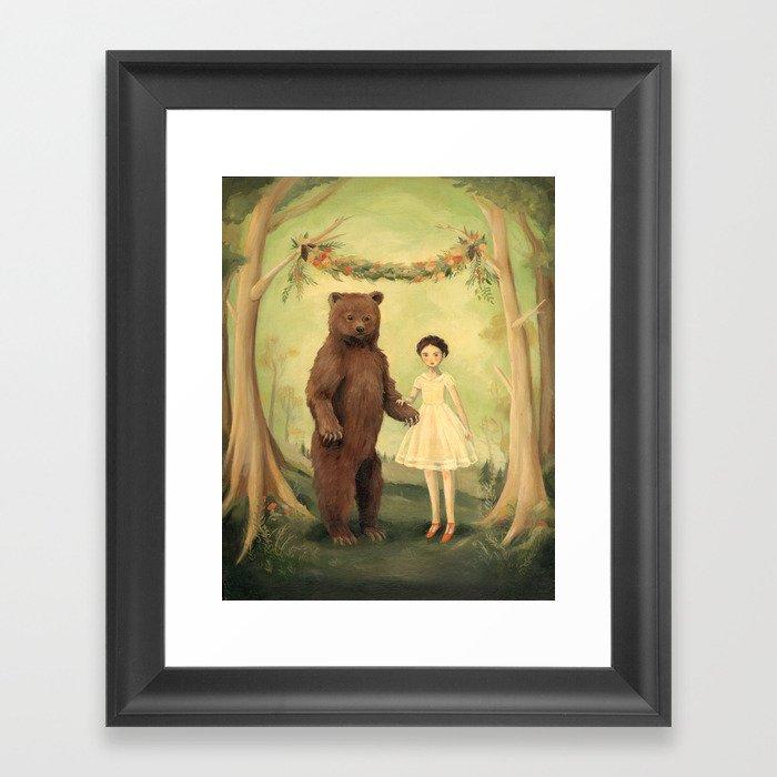 In the Spring, She Married a Bear Gerahmter Kunstdruck