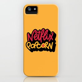 Netflix & Popcorn iPhone Case