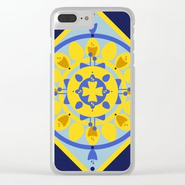 Sicilian Flowers Clear iPhone Case