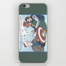 Superheroic Seasons Greetings (Chestnuts Roasting) iPhone Skin