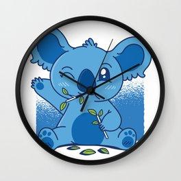 Blue Baby Koala Wall Clock