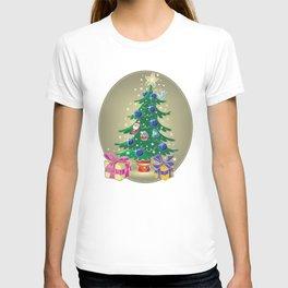 Christmas tree and presents T-shirt