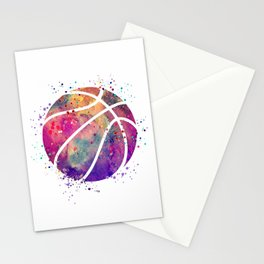Purple Basketball Watercolor Art Print Sports Poster Nursery Home Decor Kids Room Sports Painting Stationery Cards