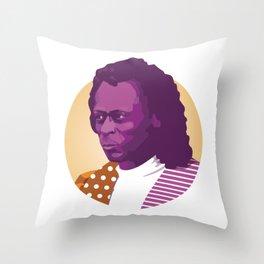 Jazz legend Throw Pillow