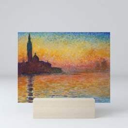 San Giorgio Maggiore by Twilight by Claude Monet Mini Art Print
