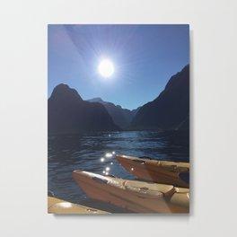 Kayaking in Milford Metal Print