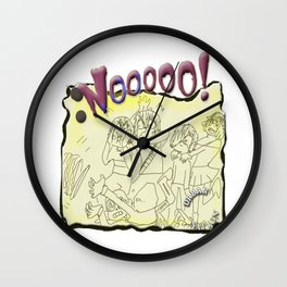 Nooooo!!-Under-Friends-Tales - Funny Moments !Pen Drawing Style Wall Clock