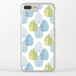 Mid-Century Modern Leaves Clear iPhone Case