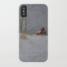 Winter Lighthouse Slim Case iPhone X