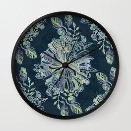 Floral Doodle Wall Clock