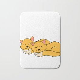 """A Real Tee For A Cat Lover You Saying """"Snuggle Is Real"""" T-shirt Design Cats Animals Pets Kitten Bath Mat"""