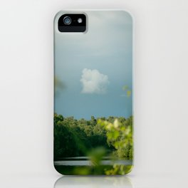 Stormy Skies over Holme Fen iPhone Case