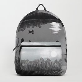 The Pond Black and White Backpack