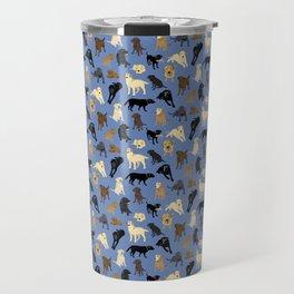 Lotsa Labs on Blue Travel Mug