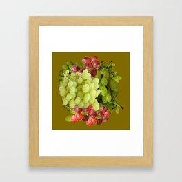 GREEN & RED GRAPE HARVEST  DESIGN Framed Art Print