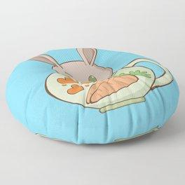 Peeking Bunny Floor Pillow