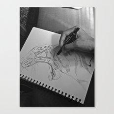 A Sketch Amongst Many Canvas Print