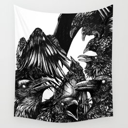 The Riot : Crows Wall Tapestry