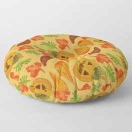 retro lovely jack-o-lantern pattern Floor Pillow
